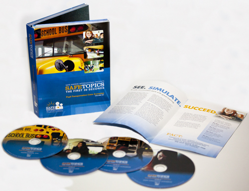 School bus safety crisis scenario training DVDs.