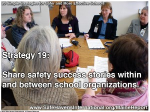 School Safety Strategies: Strategy 19: Share Success Stories