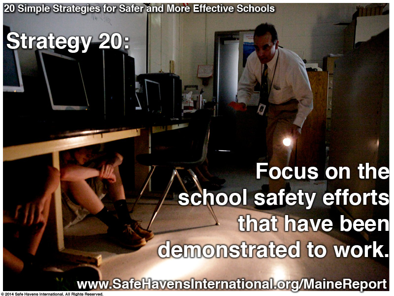Twenty Simple Strategies to Safer and More Effective Schools Maine Dept of Ed Infographic23 Infographic: Twenty Simple Strategies for Safer and More Effective Schools