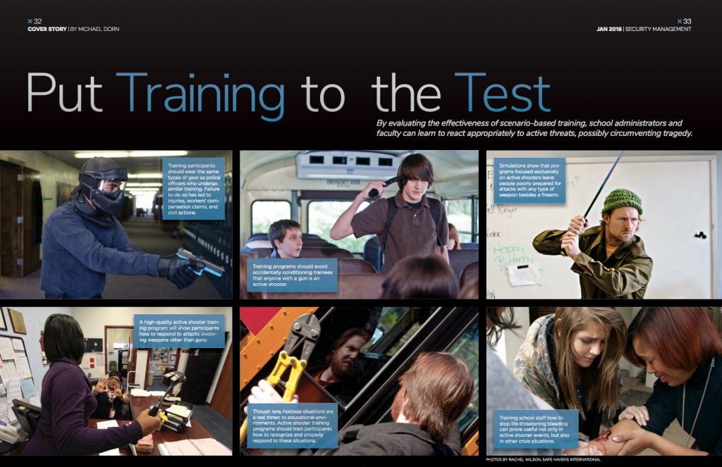 ASIS Magazine Active Shooter Training article