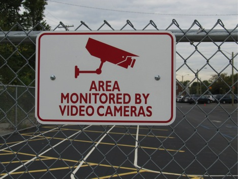 Poor choice of wording on signage relating to school security can pose problems during school safety litigation. Though many vendors provide schools with signage like that depicted, care should be taken not to use signage that implies that video cameras are being monitored.