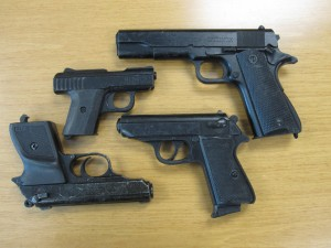 The author easily smuggled these replica firearms through an improperly run metal detection checkpoint during a security assessment of a high-rise school board office building.  He could have just as easily carried these items through every metal detection checkpoint he passed through in Washington D.C. last week.