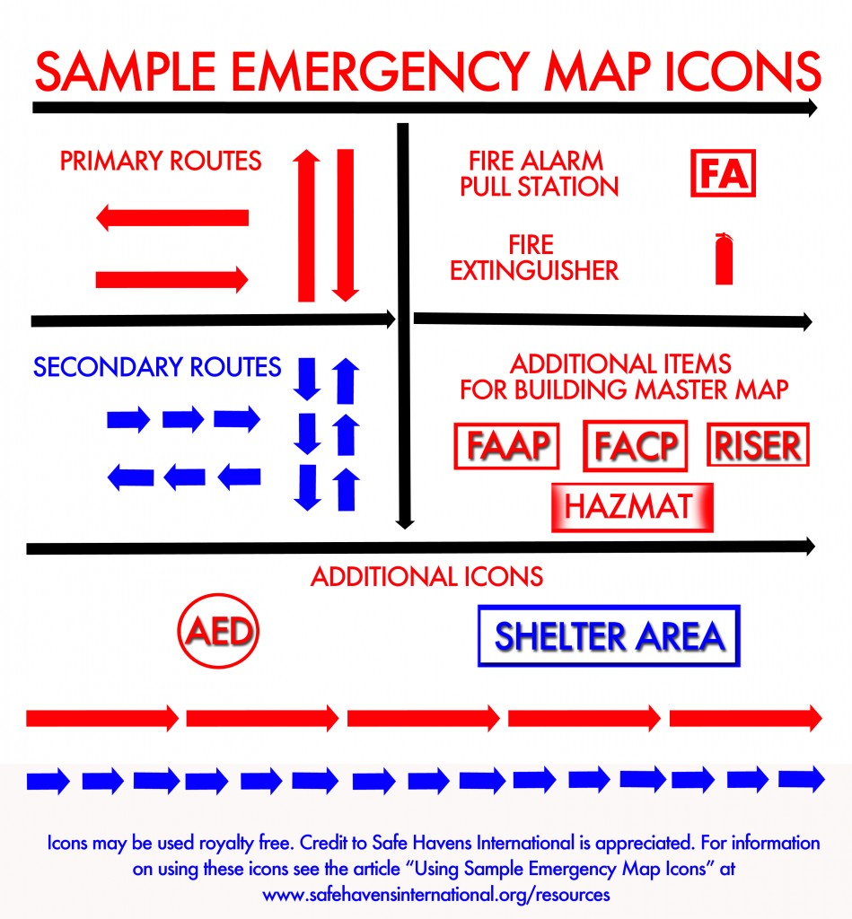 Sample Emergency Map Icons