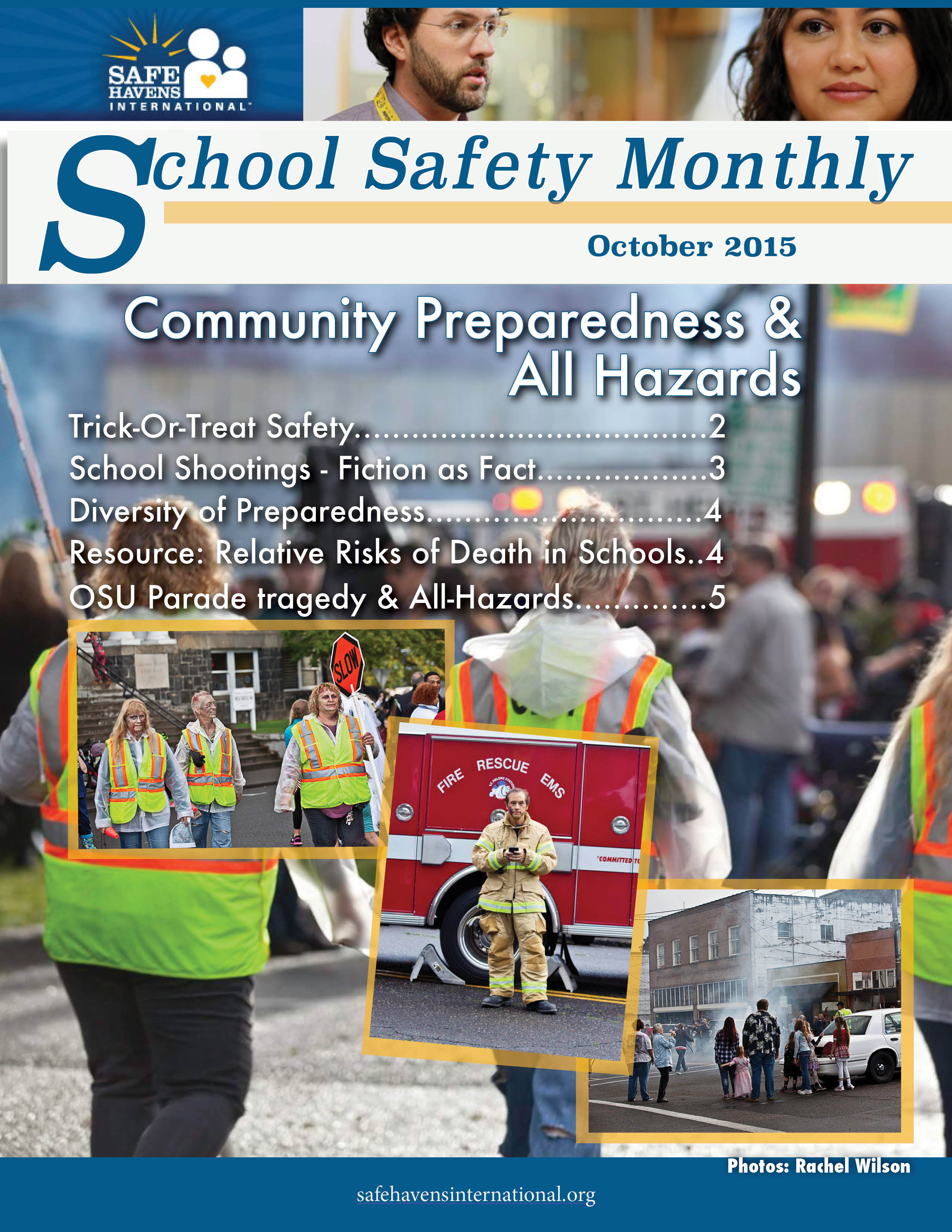 School Safety Monthly, October 2015: Community Preparedness: Reactions to Recent Incidents and All-Hazards Planning