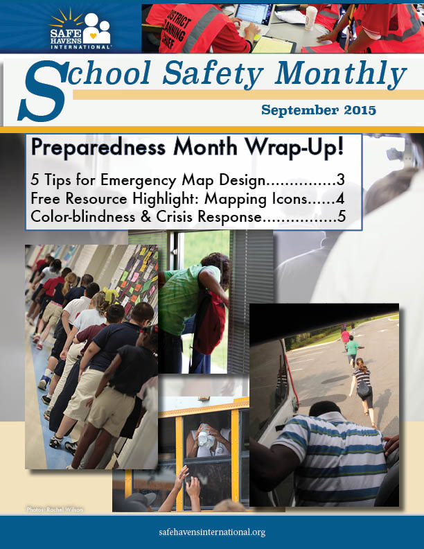 School Safety Monthly, September 2015: Emergency Mapping and More