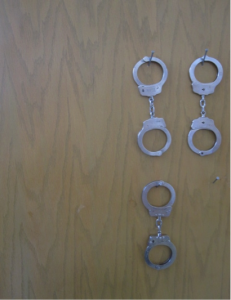 These handcuffs appeared out of place in an alternative school. Questioning their presence revealed a serious concern during a school security assessment